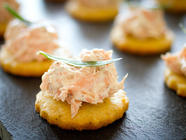 Smoked Trout and Savoury Shortbread Canapes